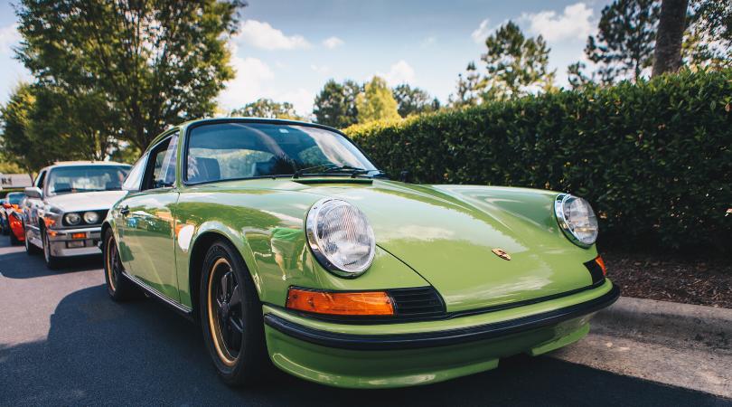 classic car - grüner porsche
