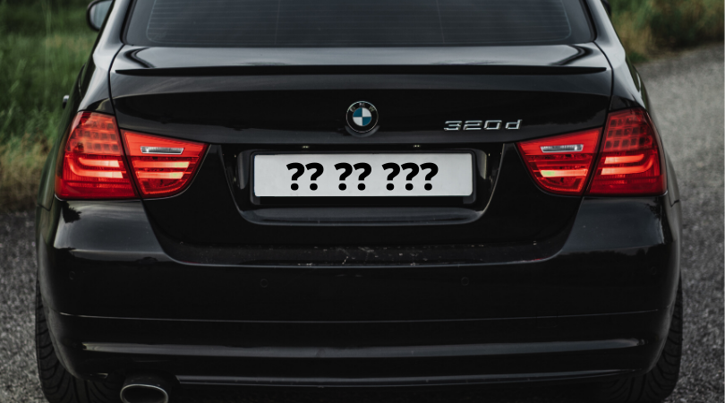 UK number plate question marks