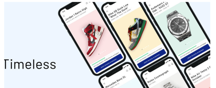 "Sneakers123 ""Timeless Collectibles App – Mit Anteilen in Sneakers investieren"""